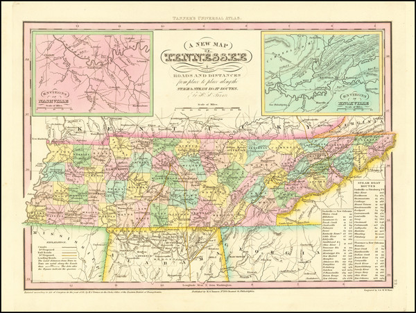 97-Tennessee Map By Henry Schenk Tanner