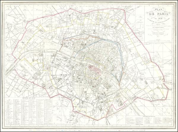 40-Paris Map By Ambroise Tardieu