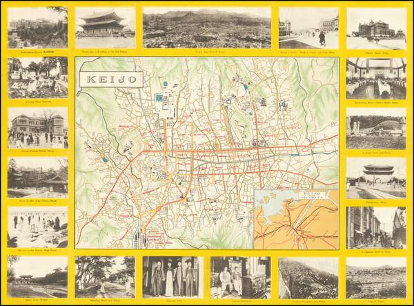 96-Korea Map By Japan Tourist Bureau Chosen Branch