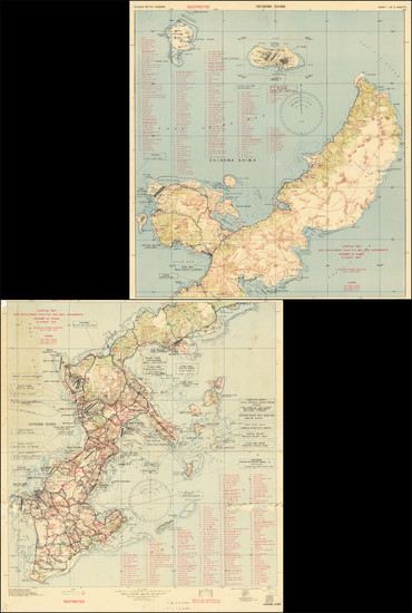 70-Japan and World War II Map By 3020th Engr. Topo. Co. (Corps)