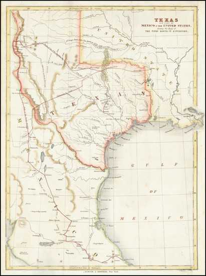 90-Texas, Plains and Southwest Map By W. Kemble