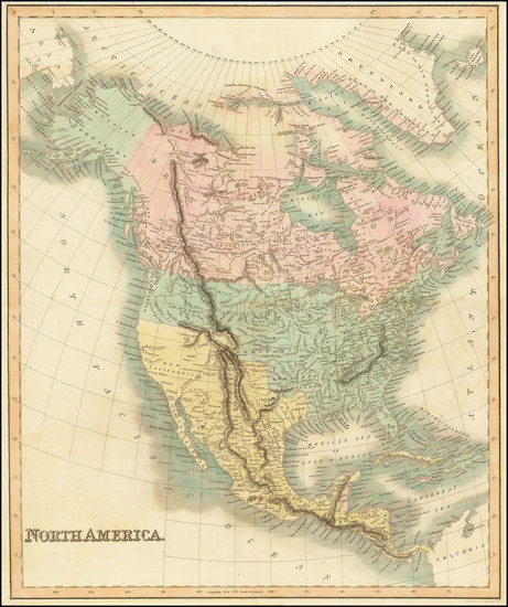 55-North America Map By Hinton, Simpkin & Marshall