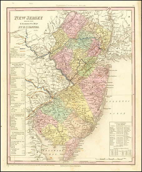 73-New Jersey Map By Henry Schenk Tanner