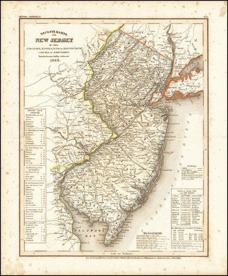 32-New Jersey Map By Joseph Meyer
