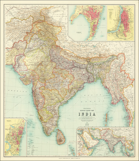 1-India Map By Thacker, Spink & Co.