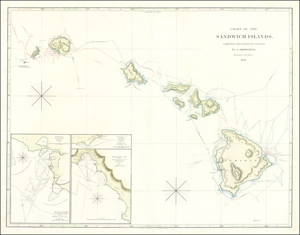93-Hawaii and Hawaii Map By Aaron Jr. & Samuel Arrowsmith