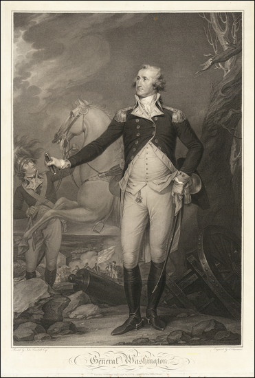 87-United States, Portraits & People and American Revolution Map By John Trumbull / Antonio De
