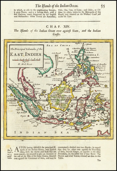 72-Philippines, Indonesia and Malaysia Map By Herman Moll
