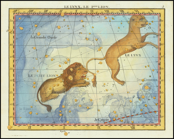 82-Celestial Maps Map By John Flamsteed / MJ Fortin