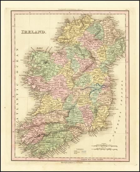 22-Ireland Map By Henry Schenk Tanner
