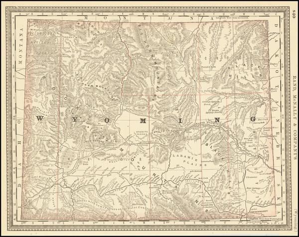 86-Wyoming Map By Rand McNally & Company
