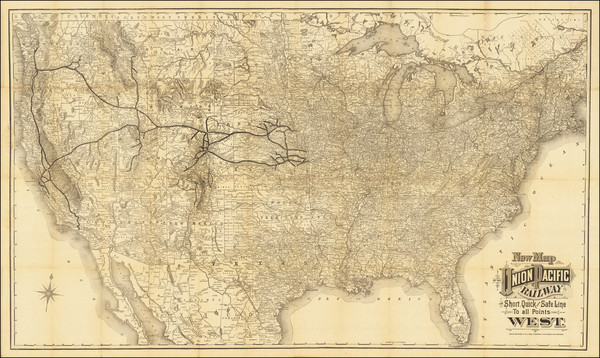 52-United States Map By Union Pacific Railroad Company