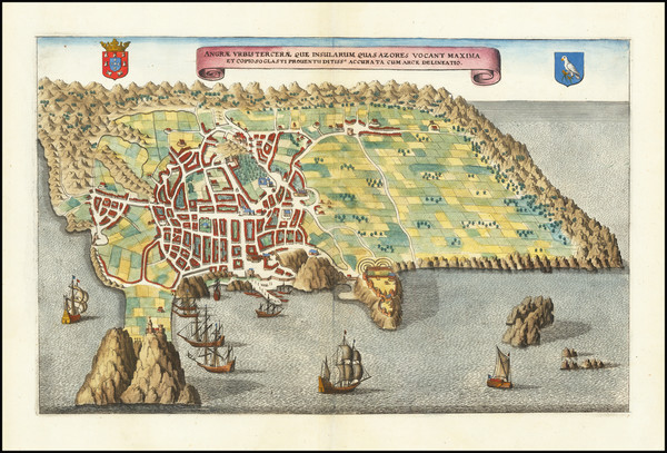 9-Atlantic Ocean, Portugal and European Islands Map By Matthaus Merian