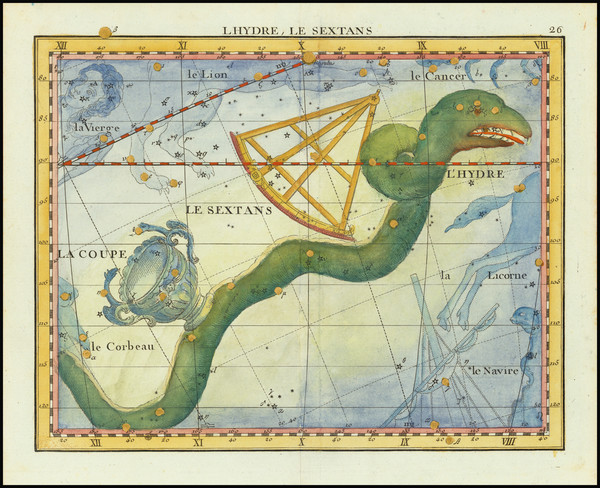 15-Celestial Maps Map By John Flamsteed / MJ Fortin