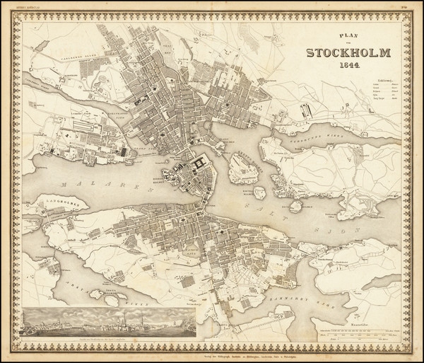 58-Sweden Map By Joseph Meyer