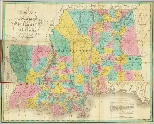 59-Louisiana, Alabama and Mississippi Map By Anthony Finley