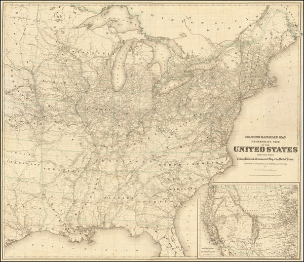 42-United States Map By G.W.  & C.B. Colton