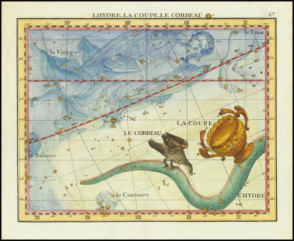 55-Celestial Maps Map By John Flamsteed / MJ Fortin