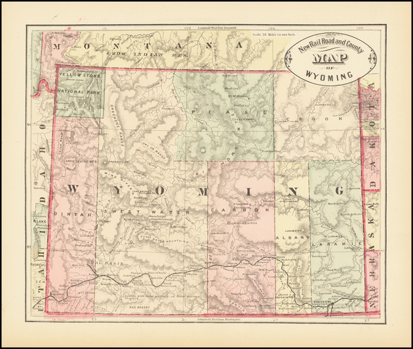 92-Wyoming Map By HS Stebbins