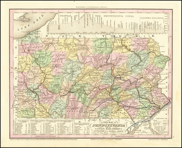 65-Pennsylvania Map By Henry Schenk Tanner