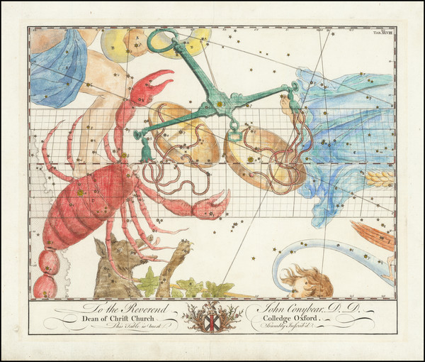 62-Celestial Maps Map By John Bevis