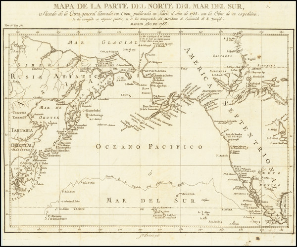 82-Pacific Northwest, Alaska, Canada, Pacific and Russia in Asia Map By Pedro de Gongora y Lujan,