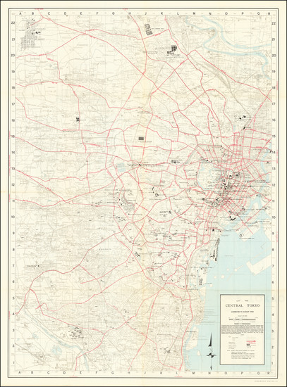 71-Japan Map By 64th Engineer Base Topographic Battalion