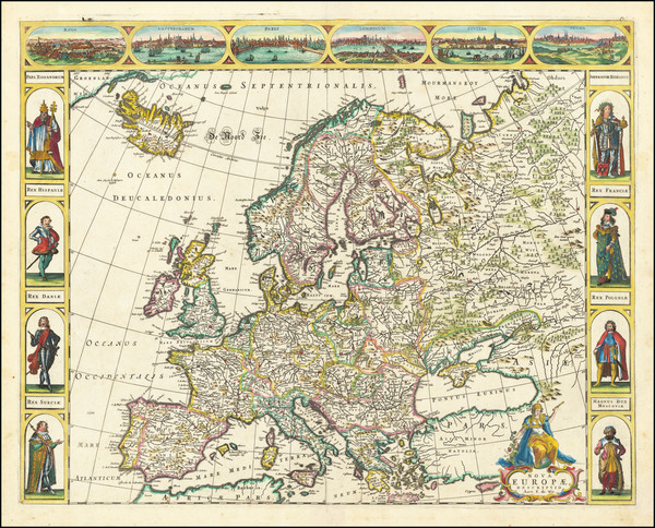 54-Europe Map By Frederick De Wit