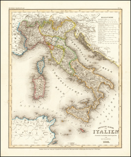 47-Italy Map By Joseph Meyer