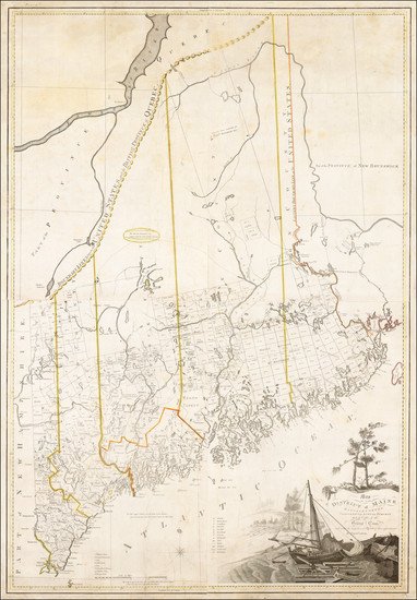 89-New England and Maine Map By Osgood Carleton
