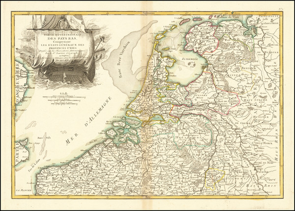 96-Netherlands and Belgium Map By Jean Janvier