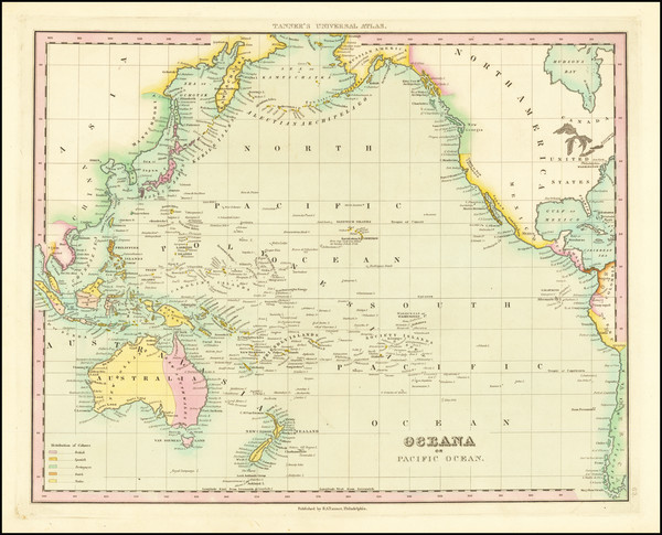 7-Pacific Ocean, Pacific and Oceania Map By Henry Schenk Tanner