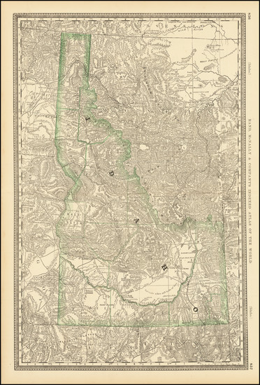 60-Idaho Map By William Rand  &  Andrew McNally