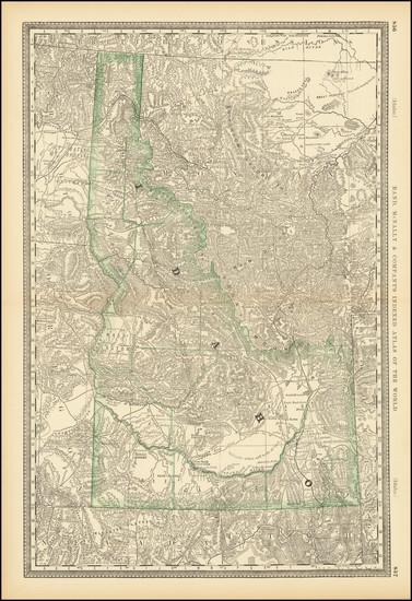 57-Idaho Map By William Rand  &  Andrew McNally