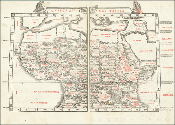 0-Egypt, North Africa, East Africa and West Africa Map By Bernardus Sylvanus