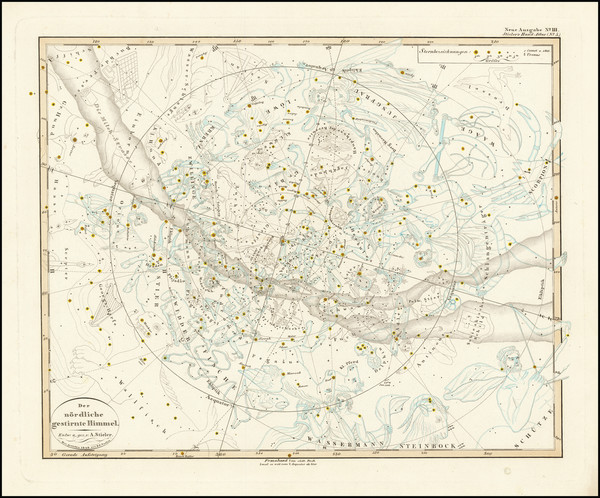 41-Celestial Maps Map By Adolf Stieler