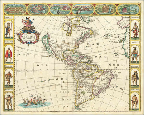 2-California as an Island and America Map By Frederick De Wit