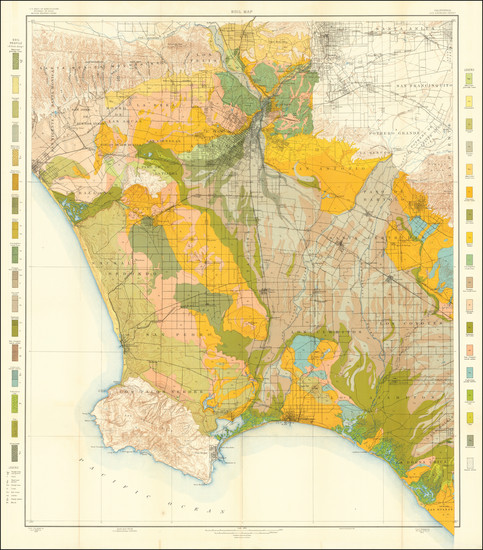 68-California and Los Angeles Map By U.S. Department of Agriculture