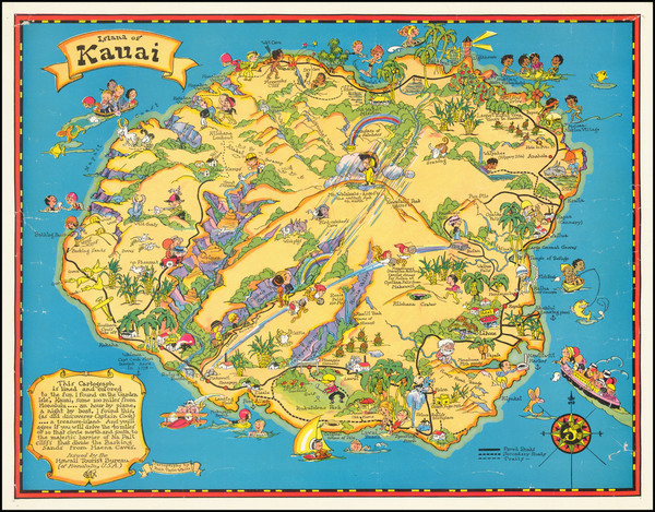 16-Hawaii, Hawaii and Pictorial Maps Map By Ruth Taylor White