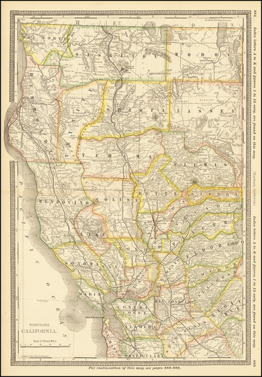 44-California Map By William Rand  &  Andrew McNally