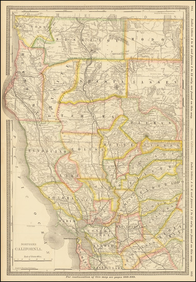 34-California Map By William Rand  &  Andrew McNally