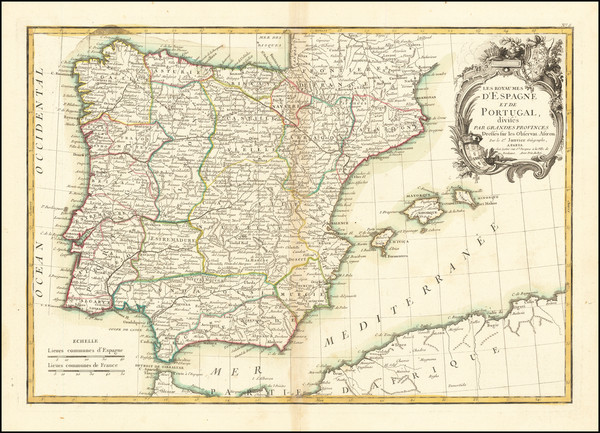 74-Spain and Portugal Map By Jean Janvier