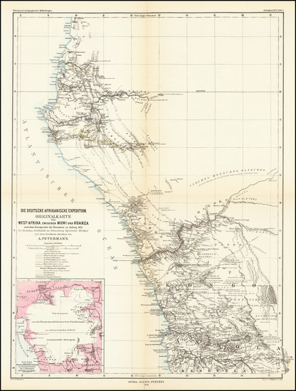 53-West Africa Map By Augustus Herman Petermann