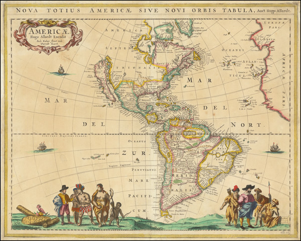 95-California as an Island and America Map By Hugo Allard