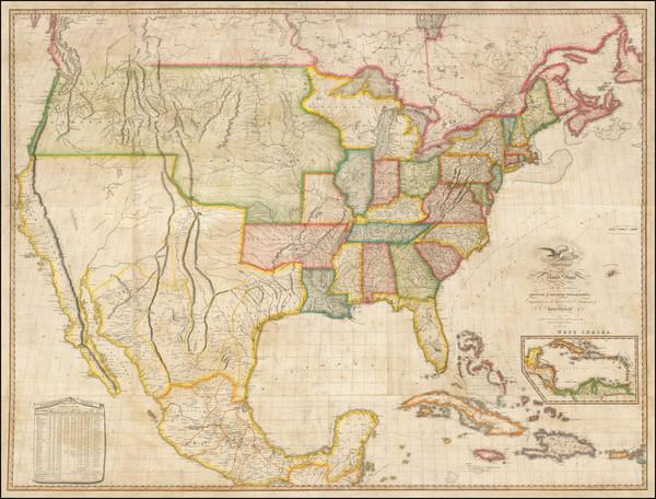 22-United States Map By John Melish