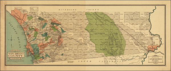 1-California and San Diego Map By E. E.  Knight