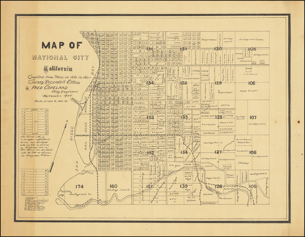 47-San Diego Map By Fred Copeland