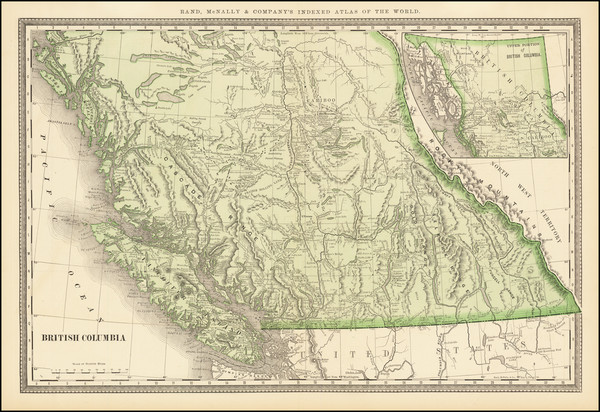 99-Canada and British Columbia Map By Rand McNally & Company