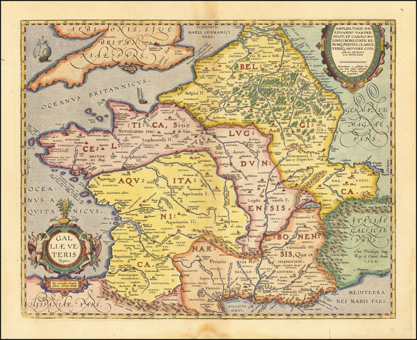 7-France Map By Abraham Ortelius