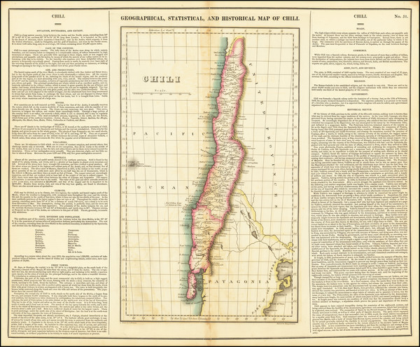 81-Chile Map By Henry Charles Carey  &  Isaac Lea